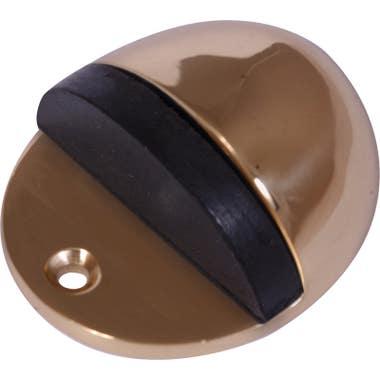 Oval Floor Door Stop Polished Brass