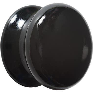 Ceramic Cabinet Knob - Black 35mm