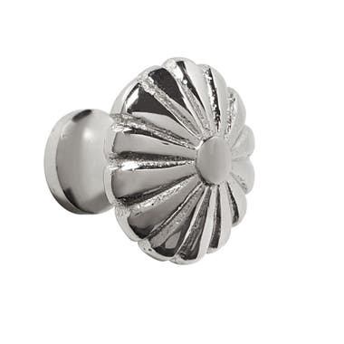 Solid Flower Cabinet Knob 30mm Nickel Plated