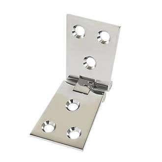102mm x 38mm Counter Flap Hinge Polished Chrome