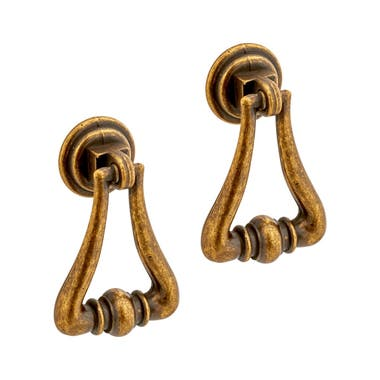 Drop Pull Cabinet Handle 53 mm Antique Brass