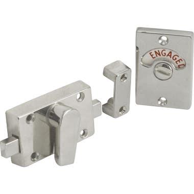 Bathroom Door Indicator Privacy Bolt Satin Nickel