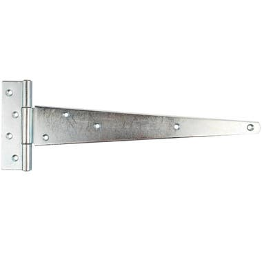 Light Duty Tee Hinge 300mm Zinc Plated (Pair)
