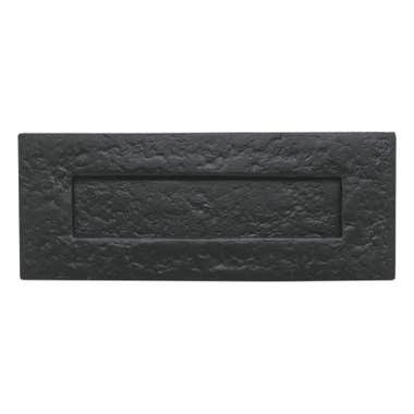Antique Letter Plate Black Iron 250mm