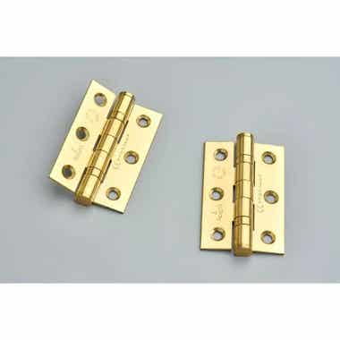 76mm Ball Bearing Hinges Brass Plated