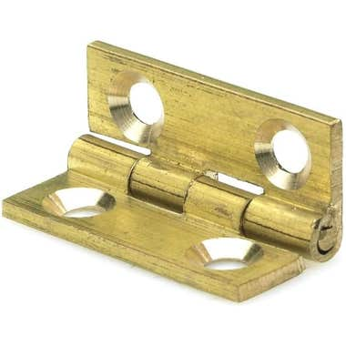 25mm x 19mm Drawn Brass Butt Hinges (Single)