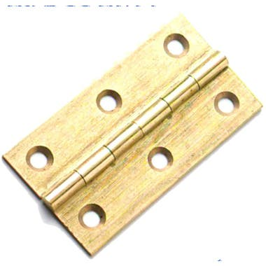 63mm x 35mm Drawn Brass Butt Hinges (Single)