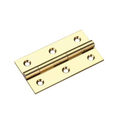 100mm Solid Brass Butt Hinges Polished