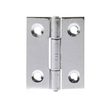 38mm Steel Butt Hinges Chrome Plated