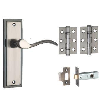 Berkeley Lever Latch Door Handle Pack - Dual Tone