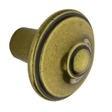 Fleur de Lis Cabinet Knob - Antique Brass