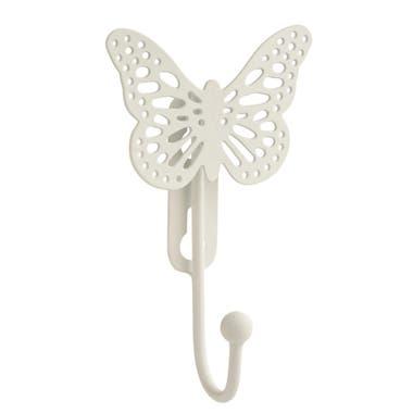 Butterfly Single Robe Hook - White