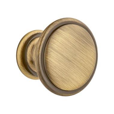Ringed Cabinet Knob 30mm Antique Brass