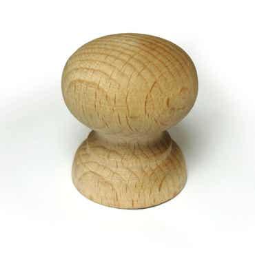 Beech Shaped Cabinet Knob Medium Sized FSC Wood