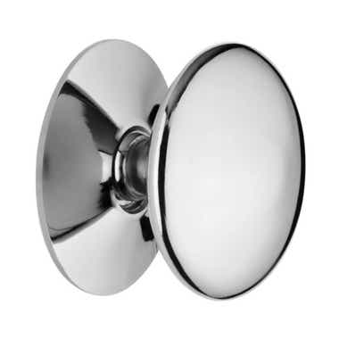 Solid Victorian Cabinet Knob 38mm Chrome