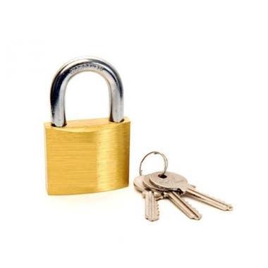 Brass Padlocks 30 mm Standard Shackle with 2 keys