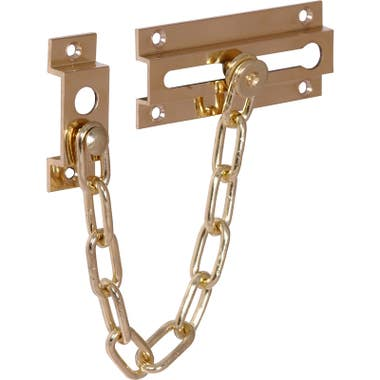 Brass Door Chains Polished Brass