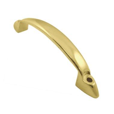 D' Handles Front Fix 102mm Brass Plated