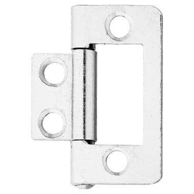 38mm Flush Cabinet Hinges Nickel Plated (Each)