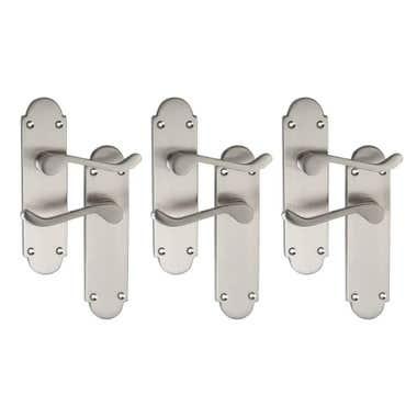 Brora Lever Latch Door Handle - Satin Nickel