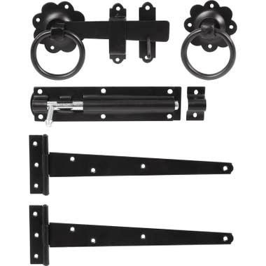 Ring Gate Latch Kit Set Black