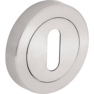 Escutcheon Keyhole  - Brushed Nickel