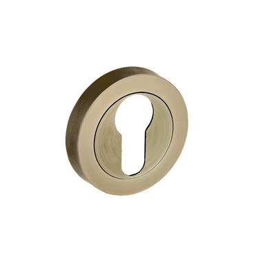 Escutcheon Euro Lock  - Antique Brass
