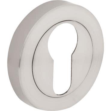 Euro Keyhole Escutcheon - Brushed Satin Nickel 1 Pair