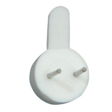 Hardwall Picture Hooks White 22mm