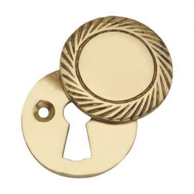 Georgian Covered Keyhole Escutcheon Polished Brass