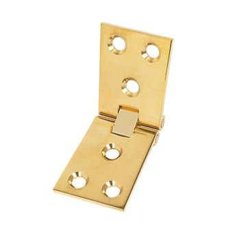 102mm x 38mm Counter Flap Hinge Polished Brass