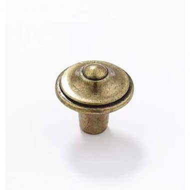 Pointed Cabinet Knob 30mm Antique Brass