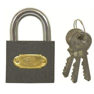 Tri-Circle 38mm Iron Padlock with 3 keys