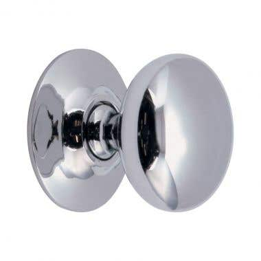 Round Cabinet Knob 30mm Chrome Plated