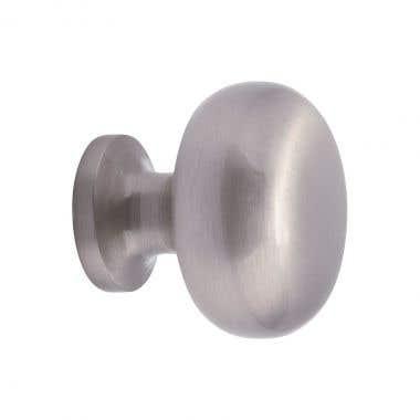 Round Cabinet Knob 30mm Brushed Nickel