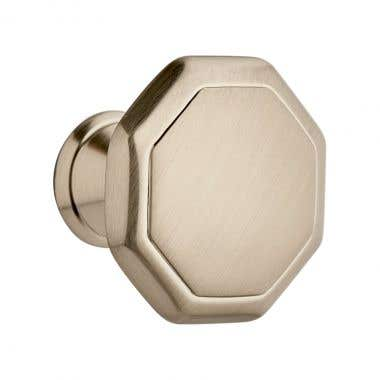 Hexagonal Cabinet Knob 30mm Satin Nickel
