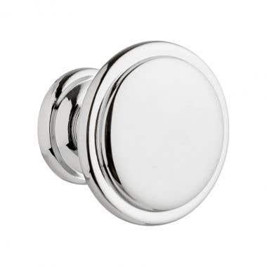 Ringed Cabinet Knob 30mm Chrome