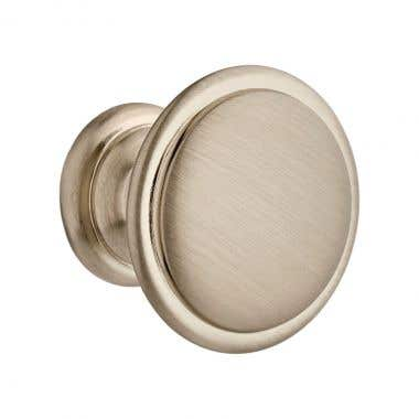 Ringed Cabinet Knob 29mm - Satin Nickel