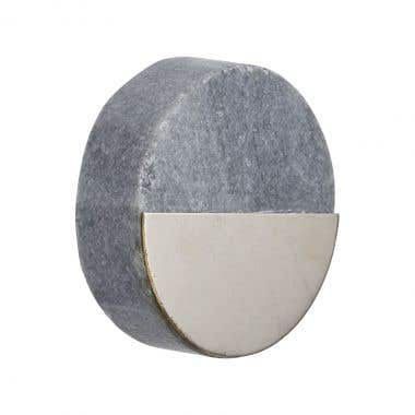 Round Two Tone Nickel Plated Grey Marble Cabinet Pull Knob 40mm