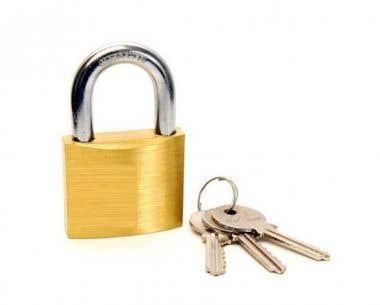 Brass Padlocks 50 mm Standard Shackle with 3 keys