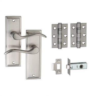 Berkeley Lever Latch Door Handle Pack - Satin Nickel