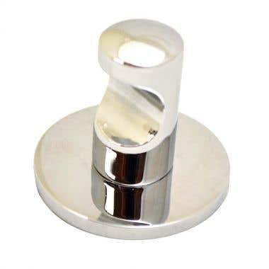 Self Adhesive Single Robe Hook Round - Polished Chrome