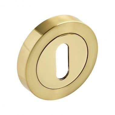 Escutcheon Keyhole - Dual Tone Brass