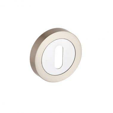 Escutcheon Keyhole  - Dual Tone Nickel