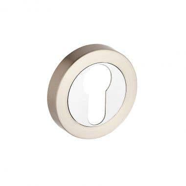Escutcheon Euro Lock  - Dual Tone Nickel