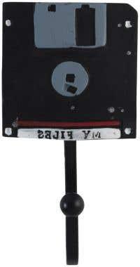 Handmade Floppy Disk Retro Design Coat Hook