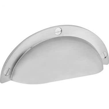 Shell Pull Cabinet Handle 64mm Brushed Nickel