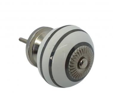 Ceramic Knob with Silver rings
