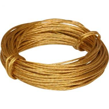 Brass Picture Wire 6 m Pack 5