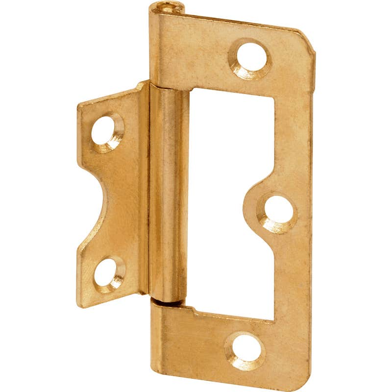 76mm Flush Hinges Brass Plated